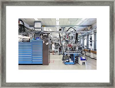Molecular Beam Epitaxy Framed Print by Ibm Research