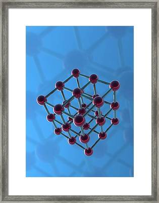 Molecular Model Framed Print by Victor Habbick Visions