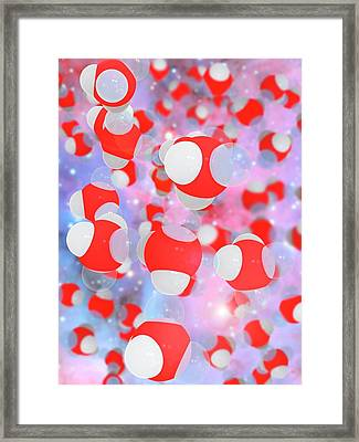 Molecular Structure Of Water Framed Print