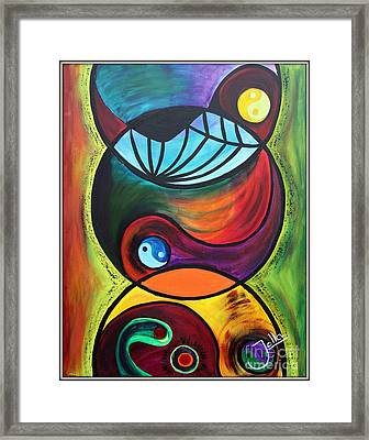 Molecules Of Emotion Framed Print