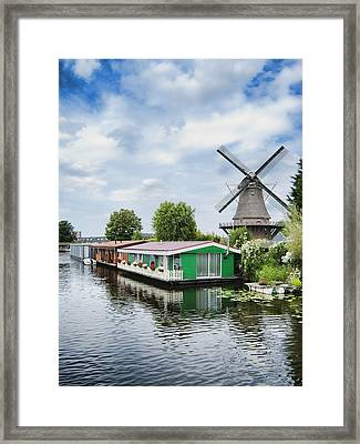 Molen Van Sloten And River Framed Print