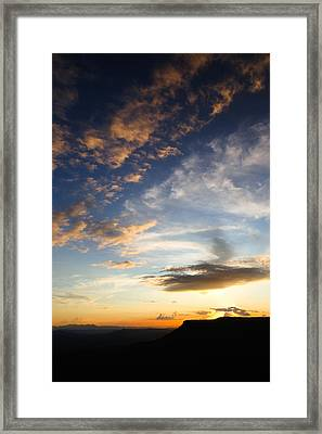 Framed Print featuring the photograph Mollogon Rim Twilight by Brad Brizek