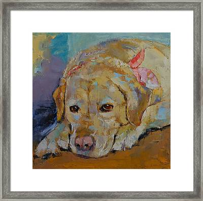 Yellow Labrador Retriever Framed Print by Michael Creese