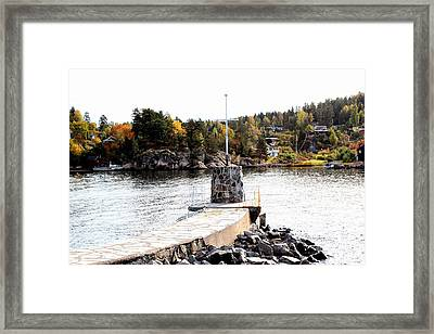 Molo By The Norwegian Fjord Framed Print