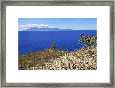 Molokai Island Viewed From Maui Island Framed Print by Sami Sarkis