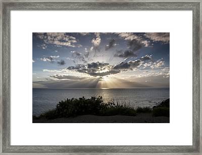 Molokai Sunset Framed Print by Charlie Osborn