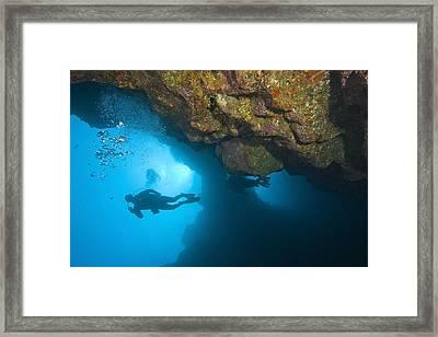 Molokini, Maui, Hawaii, Usa Scuba Diver Framed Print by Stuart Westmorland