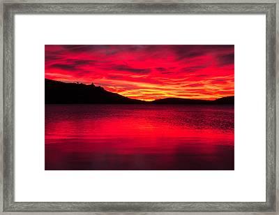 Molten Fire Framed Print