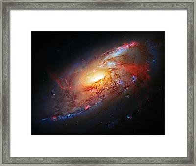 Molten Galaxy Framed Print