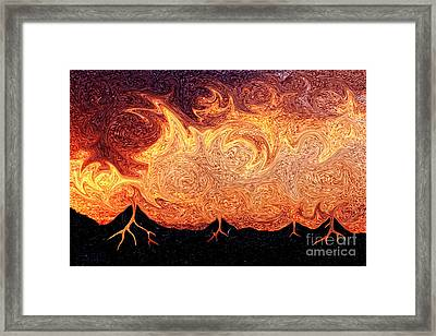 Molten Lava From The Sky Framed Print by Beverly Claire Kaiya