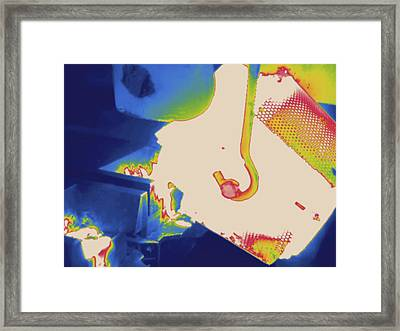 Molten Metal, Thermogram Framed Print by Science Stock Photography