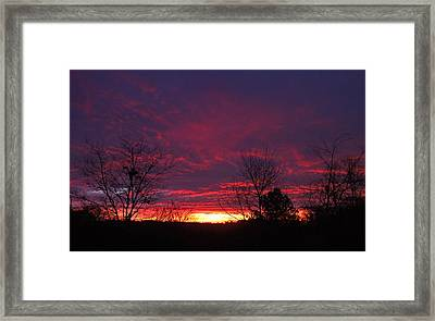 Molten Sunrise Framed Print by Pete Trenholm