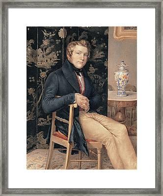 Molteni Giuseppe, Man Portrait In An Framed Print by Everett