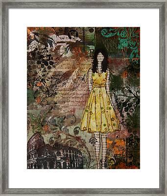 Molto Bello Mixed Media Rome Inspired Abstract Artwork Framed Print