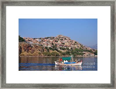 Molyvos Village Framed Print