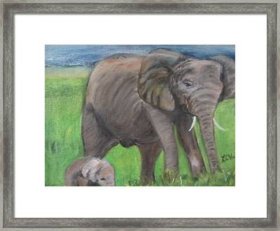 Mom And Baby In Kenya Framed Print