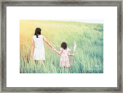 Mom And Daughter  Framed Print