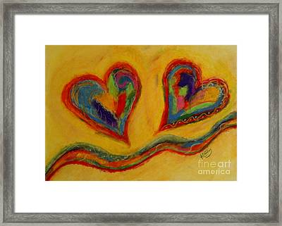 Mom And Me Framed Print by Kelly Athena