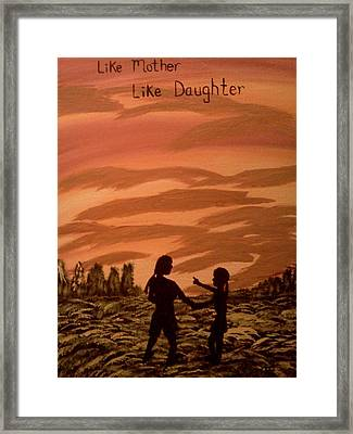 Mom And Me Framed Print by Renee McKnight