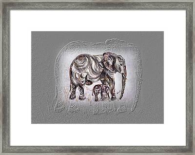 Mom Elephant Framed Print