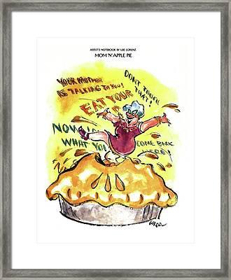 Mom 'n' Apple Pie Framed Print by Lee Lorenz