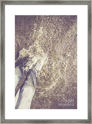 Moment Of Impact Framed Print