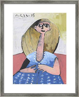 Momentis Lucy In A Blue Dress  Framed Print by Mark M  Mellon