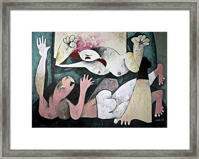 Momentis  The Fight Framed Print by Mark M  Mellon
