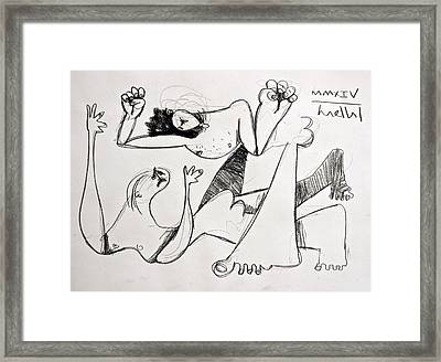 Momentis The Fight Study Framed Print by Mark M  Mellon