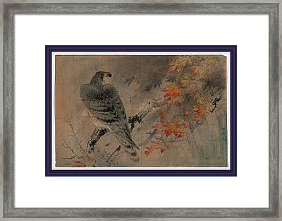 Momiji Ni Washi Framed Print