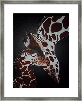 Momma And Baby Framed Print by Donna Bird