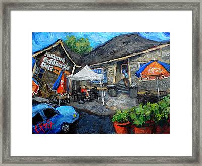 Momma Goldbergs Framed Print by Carole Foret
