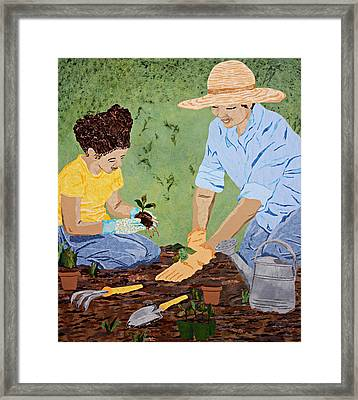 Mommy And Me Framed Print by Pauline Barrett