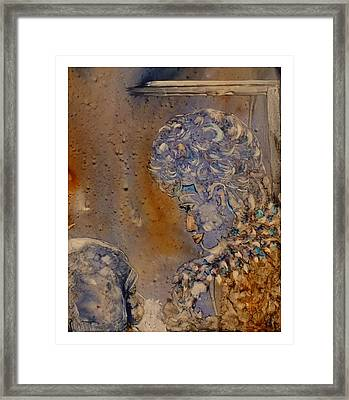 Mommy It's Cold Framed Print