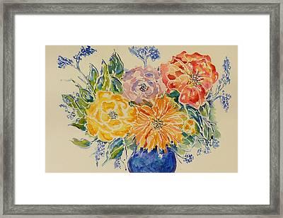 Bouquet Of Love Framed Print
