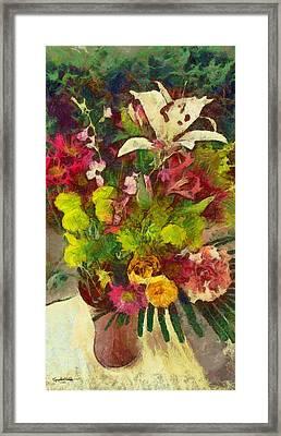 Mom's Flowers Framed Print by Spyder Webb