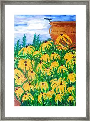 Moms Garden Framed Print