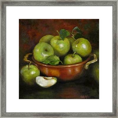 Mom's Last Apple Harvest Framed Print