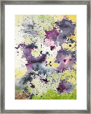 Moms Pansies Framed Print