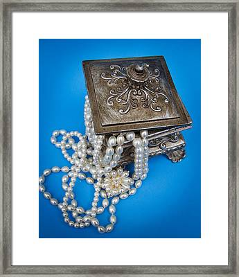Moms Pearls Framed Print by Patrice Zinck