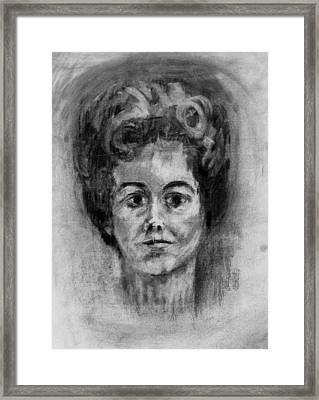 Mom's Self Portrait Framed Print