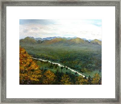 Framed Print featuring the painting Mom's Valley by J L Zarek