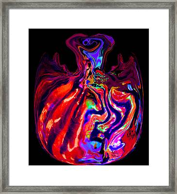Mom's Venetian Glass Vase 13 Framed Print
