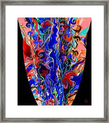 Mom's Venetian Glass Vase 6 Framed Print