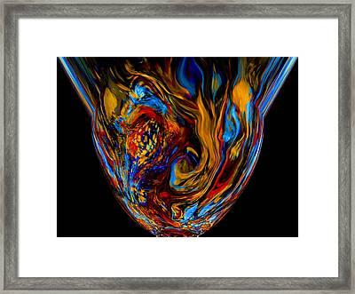 Mom's Venetian Glass Vase 7 Framed Print