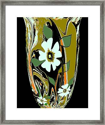 Mom's Venetian Glass Vase 8 Framed Print