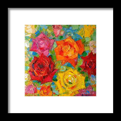 Abstract Rose Framed Prints