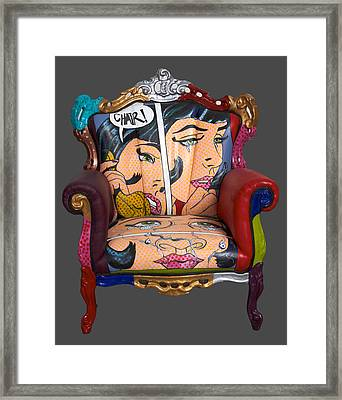 Mon Chair Framed Print