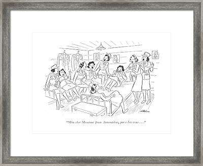 Mon Cher Monsieur From Armentieres Framed Print by  Alain