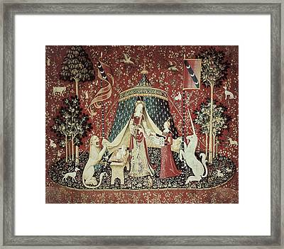 Mon Seul Desir To My Only Desire. 1490 Framed Print by Everett
